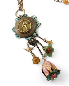 Woodland Gypsy by Jess Italia Lincoln, featuring hand painted Lucite beads from Vintage Meadow Artworks & Vintaj.