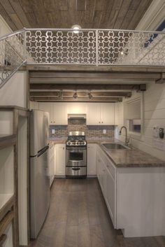 Like the kitchen under the bedroom