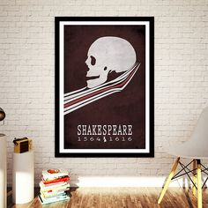 William Shakespeare Hamlet Literature Poster by CreativeDaffodil