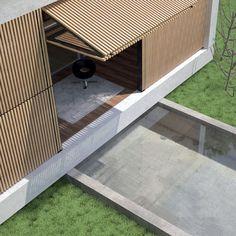 Sistema frangisole per facciata in legno Frangisole con apertura a ginocchio - CARMINATI SERRAMENTI