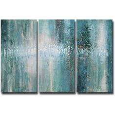 'Abstract 625' Hand-painted Oil Gallery-wrapped Canvas Art Set - 17075279 - Overstock.com Shopping - The Best Prices on The Lighting Store Gallery Wrapped Canvas