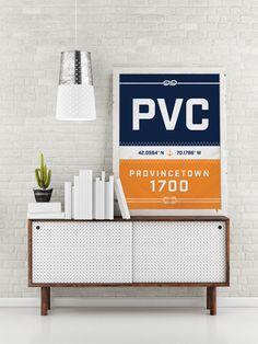 Provincetown Print - Massachusetts Recycled Sail Style Poster, Nautical Nursery, Beach Décor, Beach House Art, Sailboat, Vacation Gift