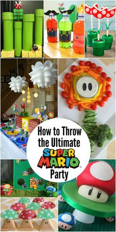 How to Throw the Ultimate Super Mario Party for Kids - fun DIY ideas for a great party for your Super Mario loving kids. #partyplanning #kidsparty #supermario #supermarioparty #diyparty