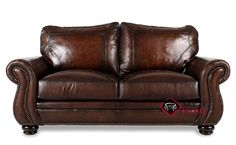 Breckenridge Leather Loveseat with Down-Blend Cushions by Bernhardt in 165-220 at Savvy Home. $2,229.00