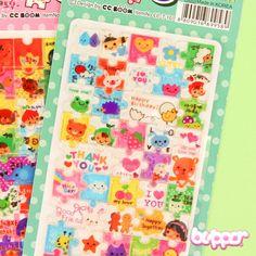 Korean Puzzle Sticker Set - 3 sheets
