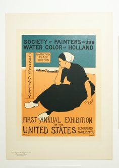 C.H. Woodbury, Original Maitres de L'Affiche Poster, USA 1898, Plate No.112. Boston Gallery Exhibit Advert. by AuthenticPosters, $150.00