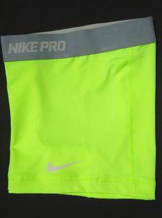 "New Volt and Grey XS Nike Pro Core II 2 5"" Women's Compression Shorts x Small | eBay"
