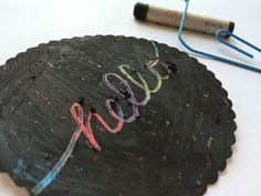 DIY Recycled  Scratch Off Gift Tags