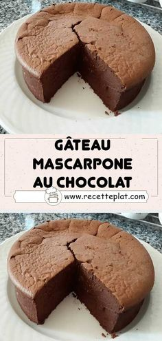 Chocolate mascarpone cake - A delicious cake, without butter, but so good that you won& want to make more! His secret? Gentilly Cake Recipe, Cakes Without Butter, Chocolat Recipe, Turtle Cheesecake Recipes, Mascarpone Cake, Desserts With Biscuits, Cinnamon Desserts, Yummy Cakes, Food Cakes