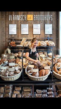 55+ Trendy Bread Shop Design Patisserie Bread Display, Bakery Display, Bakery Decor, Bakery Interior, Bakery Shop Design, Coffee Shop Design, Bakery Store, Bakery Cafe, Boutique Patisserie