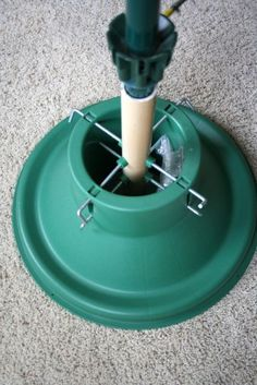 Real tree stand + PVC pipe= sturdy, rotating, adjustable length stand for your artificial tree!  great idea if your stand breaks.