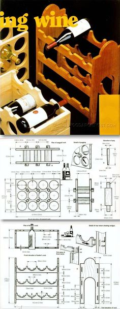 Wine Storage Racks Plans - Woodworking Plans and Projects | WoodArchivist.com