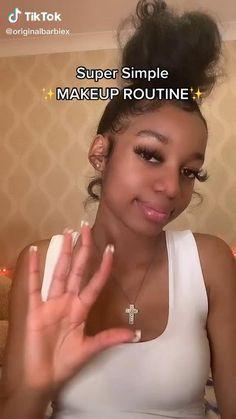 Makeup For Black Skin, Makeup Eye Looks, Cute Makeup, Simple Makeup, Maquillage Black, Maquillage On Fleek, Baddie Makeup, Makeup Looks Tutorial, Makeup Makeover