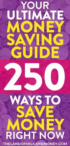 These 250 money saving tips are incredible! Having so many ideas for how to save money fast in one place is great. I'm definitely going to be saving money weekly and monthly with these frugal living hacks. They're perfect to save on groceries, on a Save Money On Groceries, Ways To Save Money, Money Tips, Money Plan, Saving Money Weekly, Money Saving Tips, Money Savers, Financial Peace, Financial Literacy