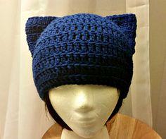 Meow! Beanie - free crochet pattern by Acquanetta Ferguson.
