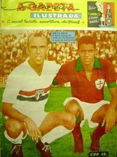 """Jair da Rosa Pinto (São Paolo, 1961) and """"Jair"""" Jair da Costa (Associação Portuguesa de Desportos, 1960–1962)."""