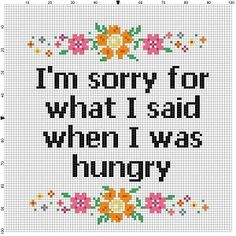 I'm sorry for what I said when I was hungry by SnarkyArtCompany