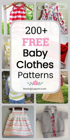 Free baby clothes patterns for boys and girls. Over 200 DIY sewing projects . Free baby clothes patterns for boys and girls. Over 200 DIY sewing projects and tutorials. Lots of Baby Dress Patterns, Baby Clothes Patterns, Sewing Patterns Free, Free Sewing, Sewing Tips, Sewing Hacks, Clothing Patterns, Baby Dress Pattern Free, Free Baby Patterns