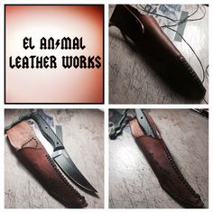 Custom Leather Sheath for a CRKT clever girl  by elanimalleatherworks