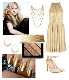 """""""Burn By Ellie Goulding"""" by amartin10 ❤ liked on Polyvore featuring Halston Heritage, Gianvito Rossi, BP., Charlotte Russe and Burberry"""