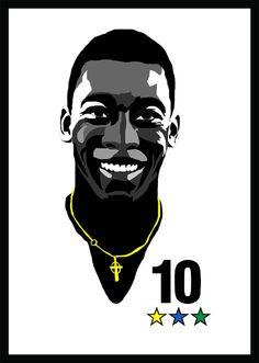El se llama Pelé. Es futbolista. Es Brasileño. Numero diez. Lengua hablada en Portugués.