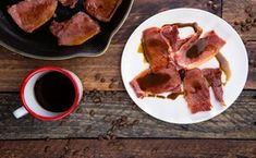 Country Ham with Redeye Gravy - Photo by Chelsea Kyle, food styling by Rhoda Boone Iron Skillet Recipes, Skillet Meals, Red Eye Gravy, Lucky Food, Country Ham, Sliced Ham, How To Cook Ham, Ham Recipes, Food Menu
