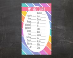 This size card is perfect for allowing your customers to keep track of their…