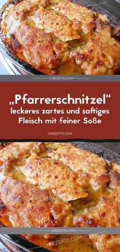 """Pfarrerschnitzel"" – leckeres zartes und saftiges Fleisch mit feiner Soße ""Pfarrerschnitzel"" - caixas de papelão e segurança Fleisch mit feiner Soße - Avaliações Saudáveis Pork Recipes, Veggie Recipes, Pasta Recipes, Dinner Recipes, Cooking Recipes, Healthy Recipes, Simple Recipes, Delicious Recipes, Easy Smoothie Recipes"