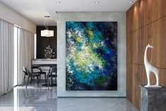 Items similar to Large Abstract Painting,Large Abstract Painting on Canvas,texture art painting,original abstract,livingroom decor art on Etsy Art Deco Paintings, Bright Paintings, Original Paintings, Painting Art, Large Abstract Wall Art, Contemporary Abstract Art, Large Wall Art, Large Canvas, Oversized Wall Art