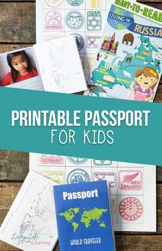 "Learn about different countries as you use this free printable passport for kids as you ""visit"" countries around the world so they can stamp their passport just like a real world traveler. Learning about geography and world cultures can be a blast and keep track by adding printable passport stamps to it. Get it now!#geography #homeschooling #socialstudies #travel #LivingLifeandLearning"