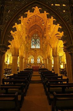 The 15th century Rosslyn Chapel, Scotland