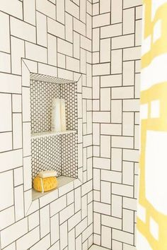 bathroom remodel ideas subway tile shower nook