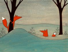 Mr. e Mrs. Fox - firmato Stampa artistica