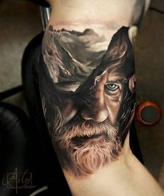 Awesome Portrait T attoo