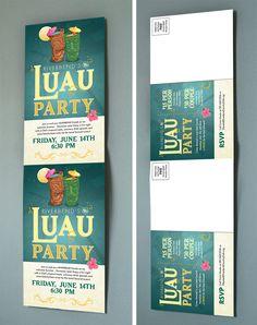 Riverbend Luau Party Invite/Postcard by AlphaGraphics Sugar Land