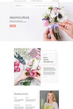 Flowers Moto CMS HTML Template #65264