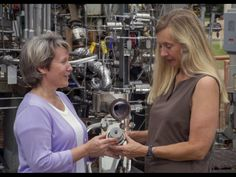 womeninspace:      Propulsion Engineer Sandra Greene (Left) and Test Engineer Cynthia Sprader (Right) hold up a 3D printed rocket engine injector. The injector is a test model used for acoustic testing of engines of the space launch system. The middle photo shows the injector in more detail, and the bottom photo shows the test itself.      Source: NASA