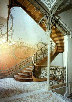 Victor Horta - Tassel House detail, Brussels - 1892-1893 - Art Nouveau in Brussels