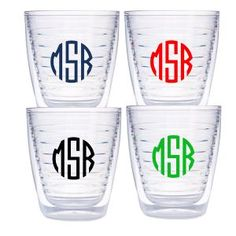 Personalized Tervis Tumbler - 12 ounces circle monogram