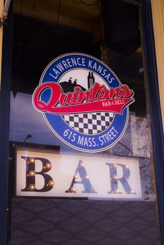 Quinton's window in downtown Lawrence, Kansas