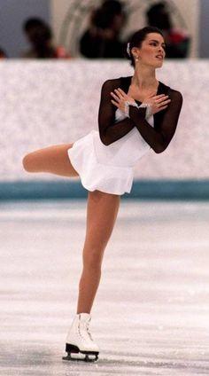 Nancy Kerrigan -White Figure Skating / Ice Skating Dresses for Inspiration Sk8 Gr8 Designs