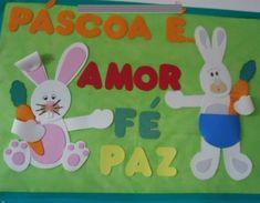 Easter Bunny, Board, School Murals, Easter, Hampers, Planks