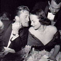 Kirk Douglas & Olivia De Havilland at the Cannes Film Festival 1953.
