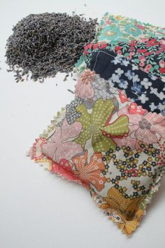 Simple Lavender sachet tutorial. Another great scrap project.
