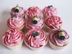 Hen Party Cupcakes by missnattiescupcakes.co.uk Hen Party Cakes, Party Cupcakes, Yummy Cupcakes, Mini Cupcakes, Bachelorette Parties, Shower Ideas, Bridal Shower, Baking, Food