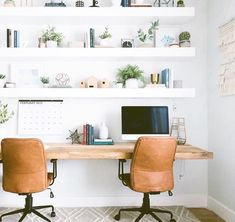 What is your favorite thing about your office, if you have one? Mine is sharing a desk with ☺️ I love sitting here and bouncing ideas off each other, taking lunch breaks together, making obnoxious googly eyes (me), and laughing at each other Office Interior Design, Office Interiors, Home Interior, Bathroom Interior, Home Office Space, Home Office Decor, Home Decor, Office Ideas, Office In Bedroom Ideas