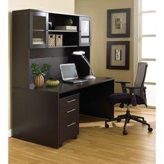 Contemporary desk in black wood