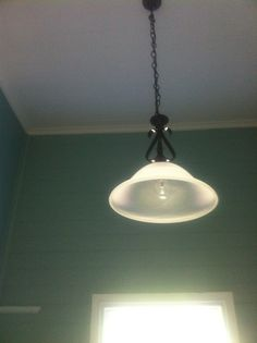Simple light fittings for kitchen and larder