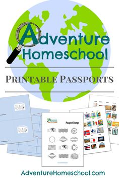 FREE Printable Passports & Country Stamps                                                                                                                                                                                 More