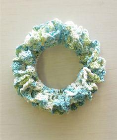 ネット編みのシュシュの作り方|編み物|編み物・手芸・ソーイング|作品カテゴリ|ハンドメイド、手作り作品の作り方ならアトリエ